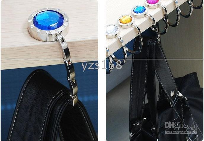 Wholesale hot selling ONE FOLDING HAND BAG PURSE HOOK HANGER HOLDER