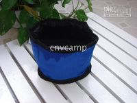 Wholesale Free shiping Hot sale Collapsible fabric Travel dog Green pet food waterproof Bowl
