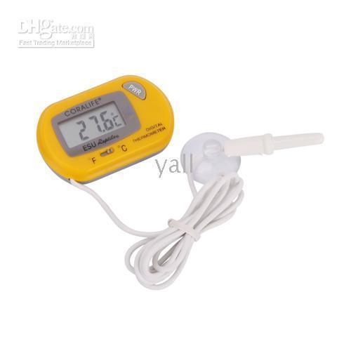 LCD Digital Fish Tank aquário marinho água termômetro frete grátis 50pcs / lot P48559
