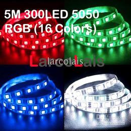5M Strip Light SMD 5050 RGB 300LED Car Truck Waterproof Flexible LED Strip Lights Light 300