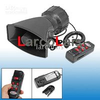 Wholesale 5 Sound Tones Loud Car Warning Alarm Siren Horn Speaker Security with Mic Auto Vehicle Loudspeaker