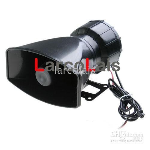 Wholesale 5 Sound Tones Loud Car Warning Alarm Siren Horn Speaker Security with Mic Auto Vehicle Loudspeaker