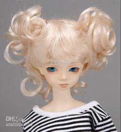 Wholesale Wholesales Lovely baby wig with two bows wig synthetic mohair colors size