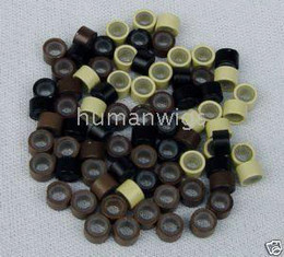 5mm silicone micro ring links for hair extension ! hair extension tools!10000 items per lot !