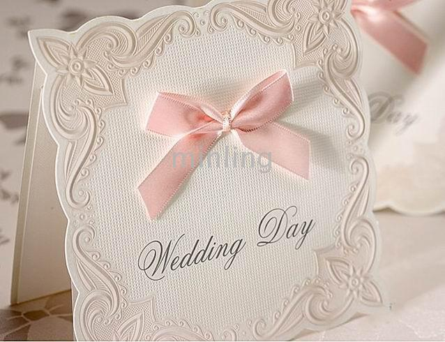 PINK BOWKNOT WEDDING INVITATION CARDSWEDDING FAVORSYGB119 – Invitation Cards for Weddings