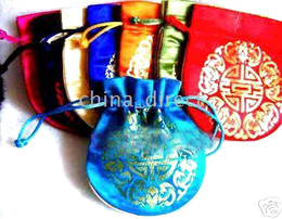 Chinese Traditional Silk gift bag Jewelry box bag purse coin bag 230pc lots new
