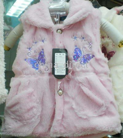 Wholesale Clearance sale Soft girls vest outfits toddler jackets kids hoodies