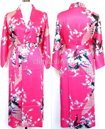 Wholesale Ladies womens Satin Pajama Lingerie Sleepwear Robe Kimono pjs
