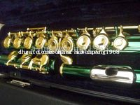 Wholesale New Arrival Advanced green C KEY flute With hard case
