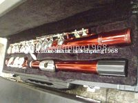 Red Open 17 Wholesale - {New Arrival}Advanced red C KEY flute With hard case
