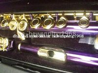 Cheap Wholesale - {New Arrival}Advanced purple C KEY flute With hard case