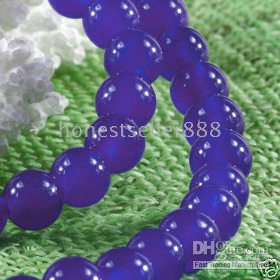 Wholesale 8mm Sri Lanka Sapphire Round Loose Gemstone Beads inch
