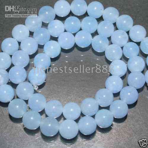Wholesale 8MM Blue Aquamarine Gemstone Loose Bead inch