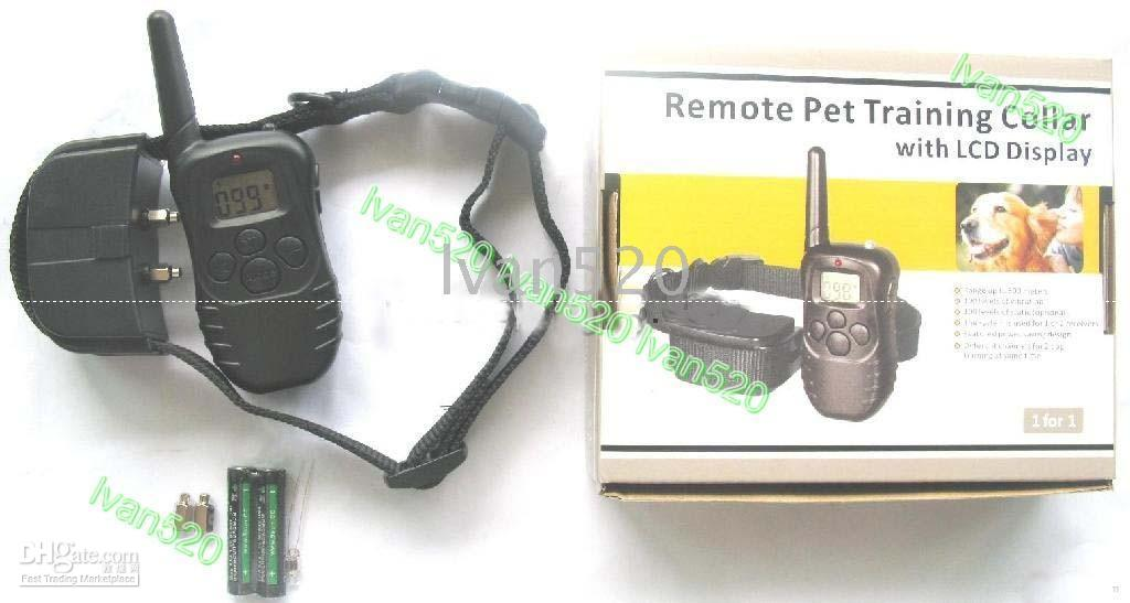 Wholesale 100LV SHOCK VIBRA REMOTE ELECTRIC DOG TRAINING COLLAR ship by china air post