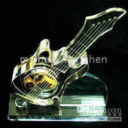 Wholesale Crystal guitar music box Creative gift SANKYO