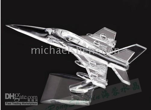 Wholesale Crystal model airplane Creative gift
