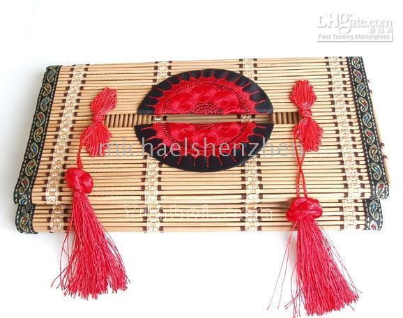 Wholesale Bamboo Tissue Box Natural box craft