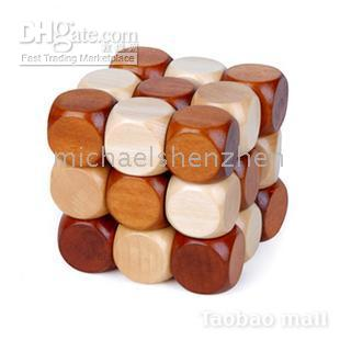 Wholesale Wood lock educational learning toys KONG MING lock magic Puzzle toy Blocks Toy