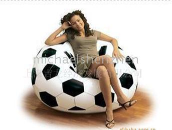 Wholesale Inflatable Soccer Ball Sofa Inflatable Bag Chair