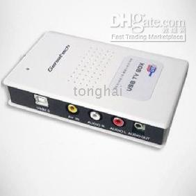 Wholesale USB TV Tuner Box Video Capture Card DVR PS2 PS3 PVR Sku681