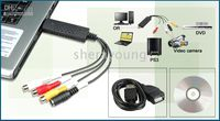 Wholesale easycap USB Video Grabber Capture Adapter Stick DVD Maker Creator DC60 by airmail