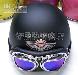 Wholesale Envío gratis Scooter ABS Casco Casco Casco Scooter Motorcycle Open Casco Negro Matte Casco Casco Goggles M L XL