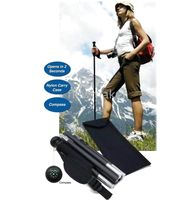 Trekking Poles 127cm Aluminum Aluminium Collapsible Walking Stick six Section Nylon Pouch packing 70 PCS For Outdoor&Sports