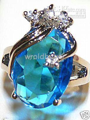 beautiful gold wedding rings - beautiful sky blue crystal woman s ring