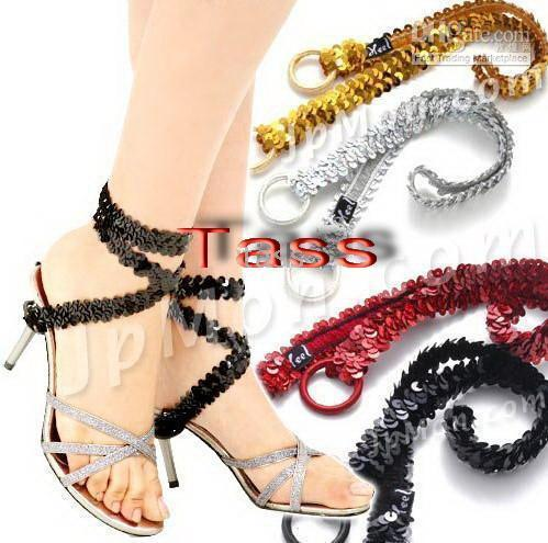 Wholesale ankle chains decor for your feet or shoes very shiny paillette for Charm cute party girls