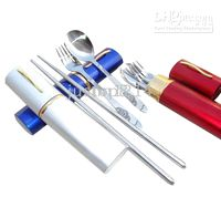 Wholesale Pocket Stainless Steel Fork Spoon Knife Chopstick Kits Kitchen tools Gadgets
