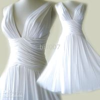Summer V-Neck White WHITE Ruched Grecian Cross Back V-neck Short Cocktail Dress Chiffon Bill007 Wedding Hot Sale Style 6