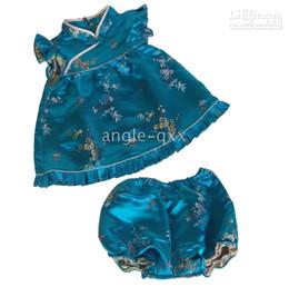 girls' sets girls' suits baby dresses girls' dresses skirt silk QIPAO sleeveless 4 colors XX03