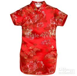 baby dresses baby dress girls' dresses silk QIPAO baby rompers many colors girl dress XX04