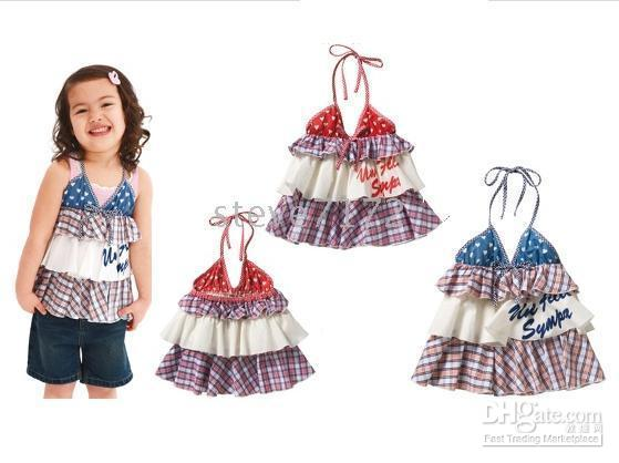 Wholesale Shirts Girls T shirts Blouses Garments Top Gallus shirt Baby costumes Vest girls shirt CL263