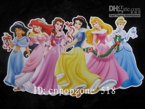 beautiful cartoon pictures - 120pcs Fashion Beautiful Snow White WALL ROOM STICKER PICTURE TOy Decoration Gift