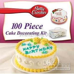 2017 betty crocker cake decorating decorator kit as seen for 100 piece cake decoration kit