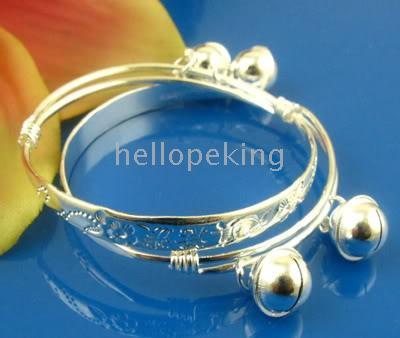 baby bangle bracelets - 925 sterling silver pc pair baby bracelet bangle