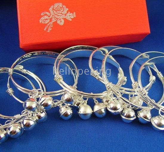 Children's baby bangles silver - 20pc sterling silver pc baby bracelet bangle
