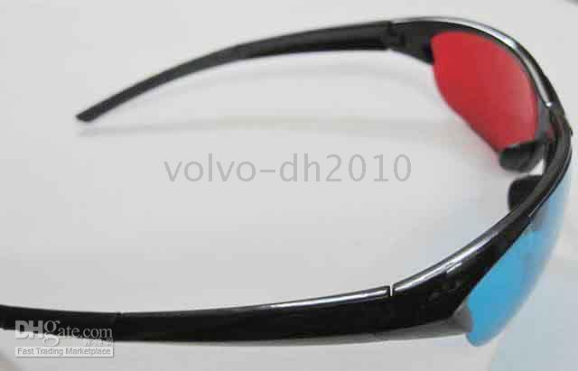 Wholesale 200pairs Red Blue Cyan Anaglyph D Glasses D Dimensional Plastic D Glasses D D Glasses