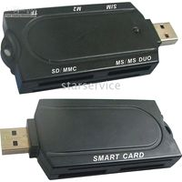 Wholesale 20pcs Newest Multi function Smargo Card N5169 usb Smart card Reader SmartReader plug