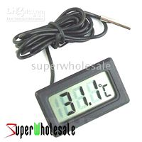 Wholesale 100pcs Mini Digital LCD Thermometer for Fridge Refrigerator Freezer