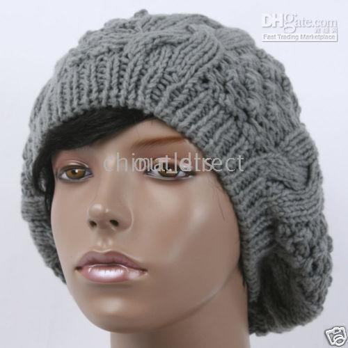 Wholesale Handmade womens lady beanie crochet knit beret hot hat tamhat cap barret cloche