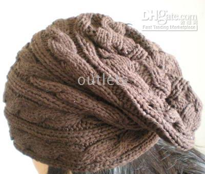 Wholesale Winter womens lady beanie crochet knit beret hat tamhat cap barret cloche hot