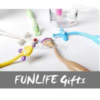 Wholesale funlife Novelty Back to School Gifts Mix PVC Flexible Cute Animal Shaped Ballpoint Pens