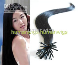 Wholesale 500S quot Stick Tip Remy Human Hair Extensions hair extension natural black b g stand mix order