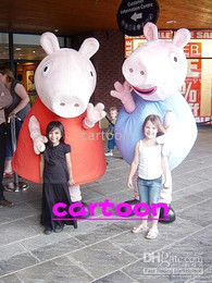 Wholesale Peppa Pi g and George Mascot Costume Adult Size