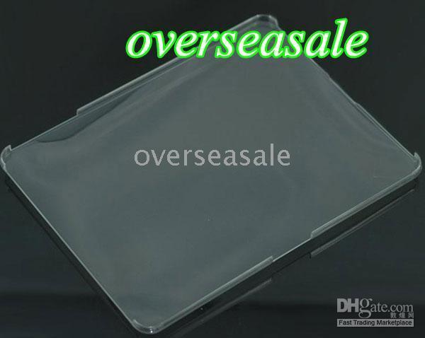 Wholesale 30pcs New ipad hard case crystal transparence cover skin case protector for APPLE IPAD accessories