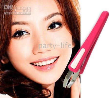 Wholesale New Eyebrow Hair Tweezers Slant eyelash Steel NIP Beauty Tool