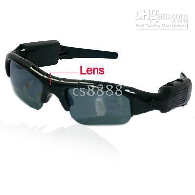 Wholesale 2GB USB Glasses Style Hidden spying Camera with Recorder Sunglasses Headset by free shiment
