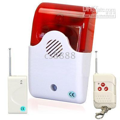 Cheap Fire alarm system-Security Alarm System Loud Sound and Light Flashing Maximum 100M Controlling